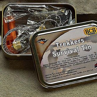Trekker Survival Kit - make your own in an altoids can based on this one.