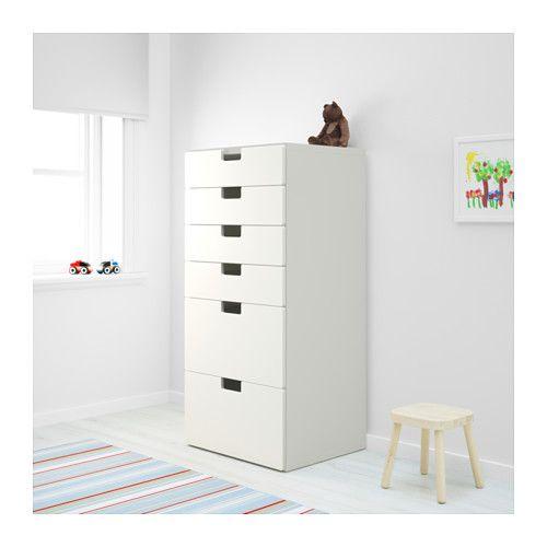 STUVA Säilytyskokonaisuus+laatikot - valkoinen/valkoinen - IKEA
