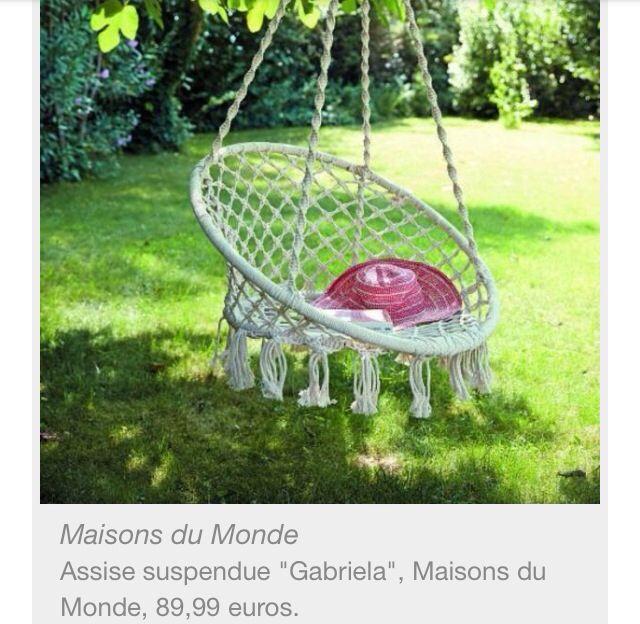 Siege balancoire Maisons du Monde 90€ | Jardin / Exterieur | Pinterest