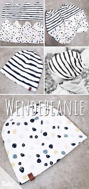 Bonnet à Coudre pour Bébé – Instructions & Patrons – Talu.de   – nähen