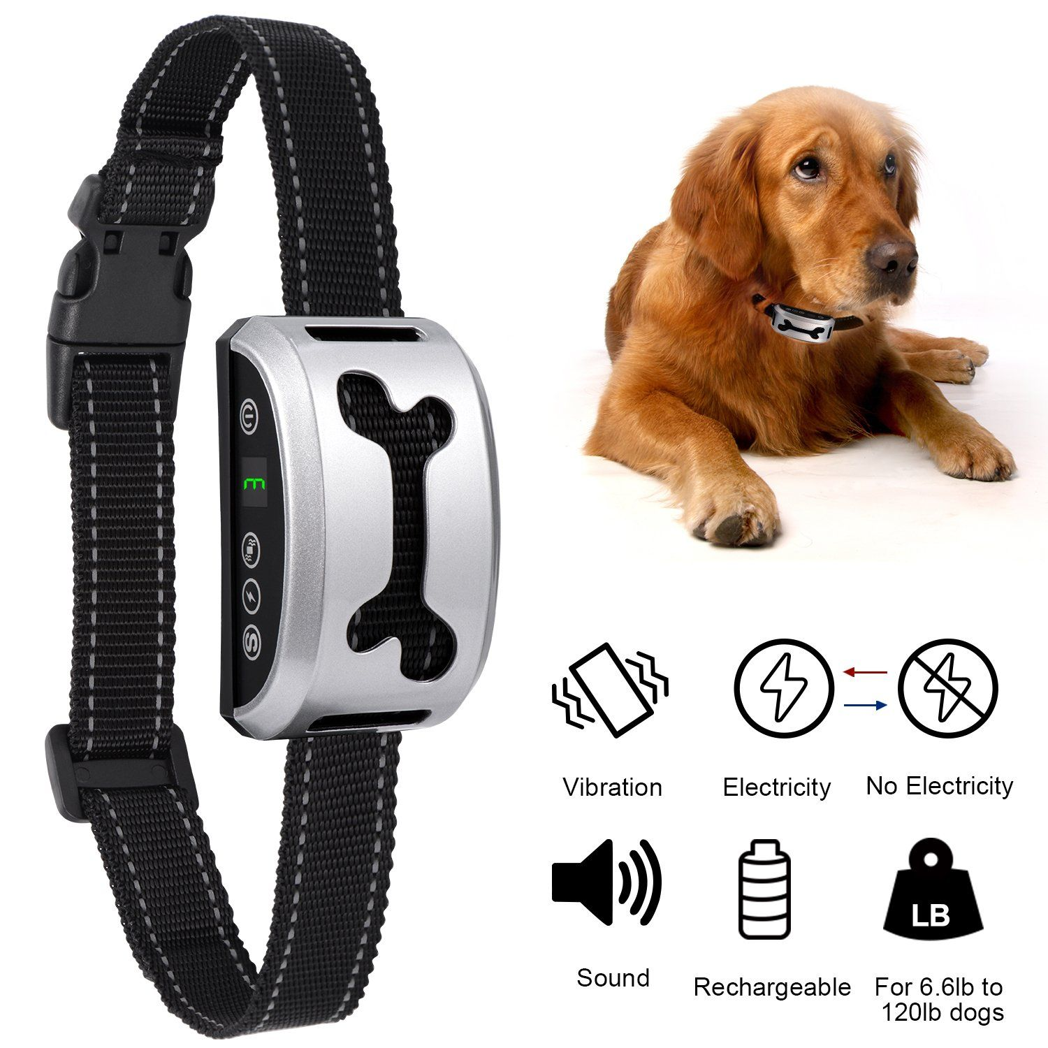 Dog Bark Collar Adoric Life Adjustable Rechargeable Humane