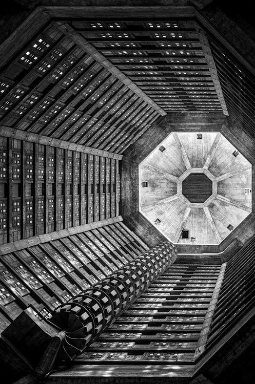 architectureofdoom:  areg:  Station 3 by Jean-Baptiste Poulain      Église Saint-Joseph du Havre, Auguste Perret, 1951-56