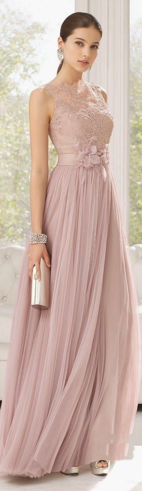 Vestido de madrinha rosa para casamento | Vestiditos, Boda y ...