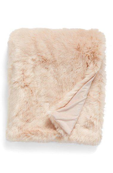Blush Pink Dusty Rose Gold Faux Fur Throw Blanket A Cozy Millennial Pink Nap Time Buddy Blushpi Oversized Throw Blanket Faux Fur Throw Blanket Faux Fur Throw