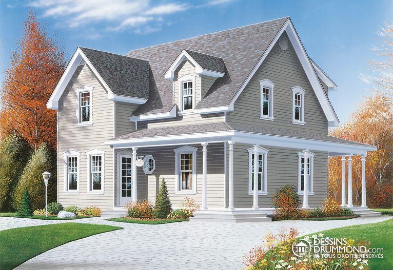 plan maison 1 etage et demi