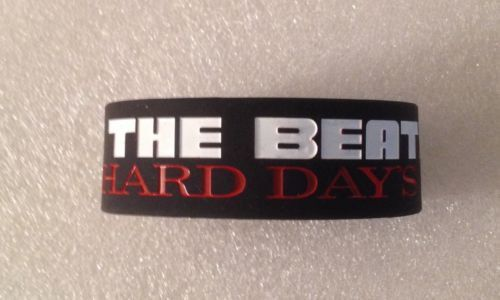 The Beatles A Hard Day's Night Logo Black PVC Rubber Wristband