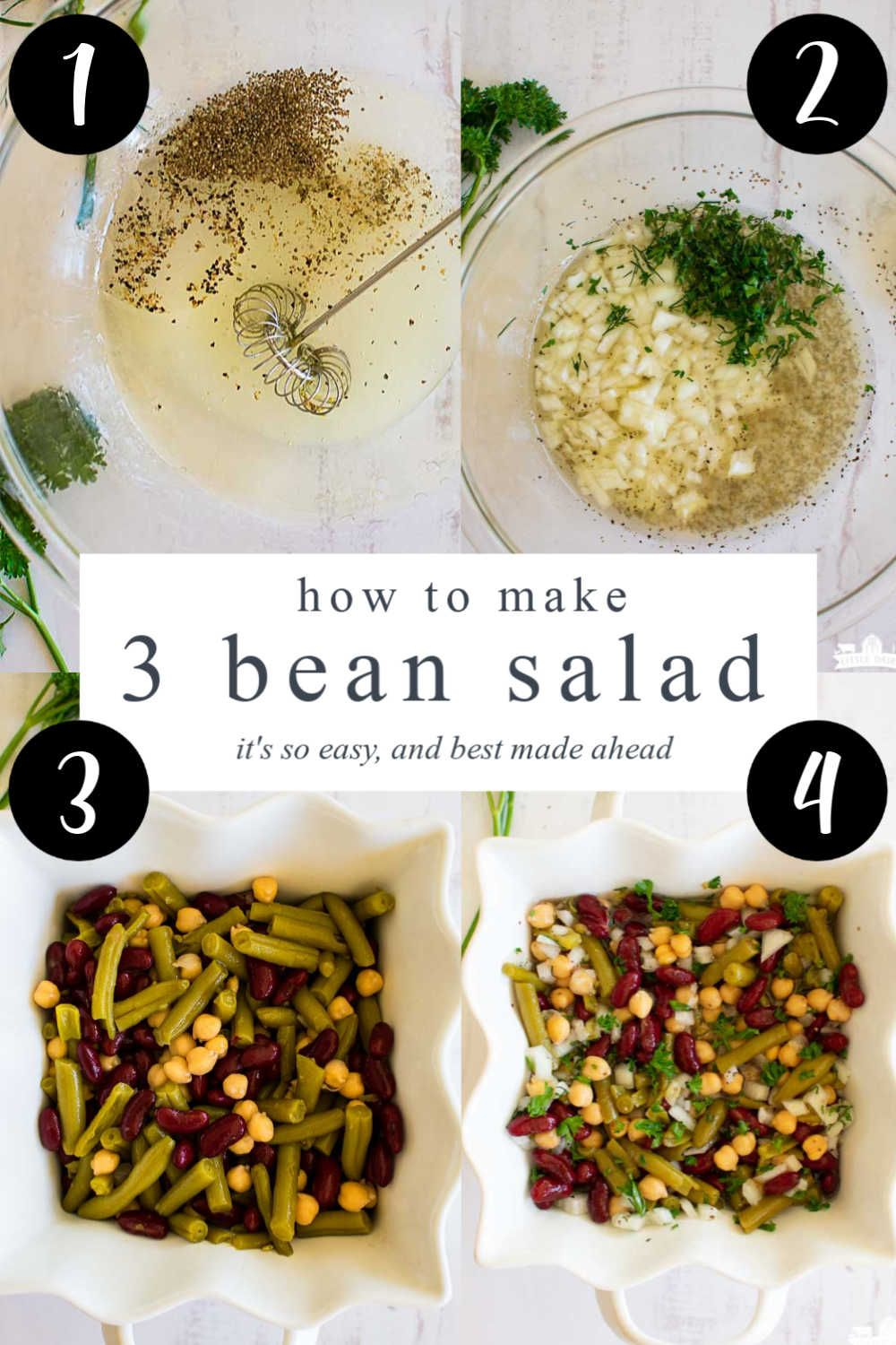 Three Bean Salad Recipe Is The Classic Old Fashioned 3 Bean Salad Recipe You Remember From Your Gra In 2020 Bean Salad Recipes Easy Bean Salad Recipes Three Bean Salad