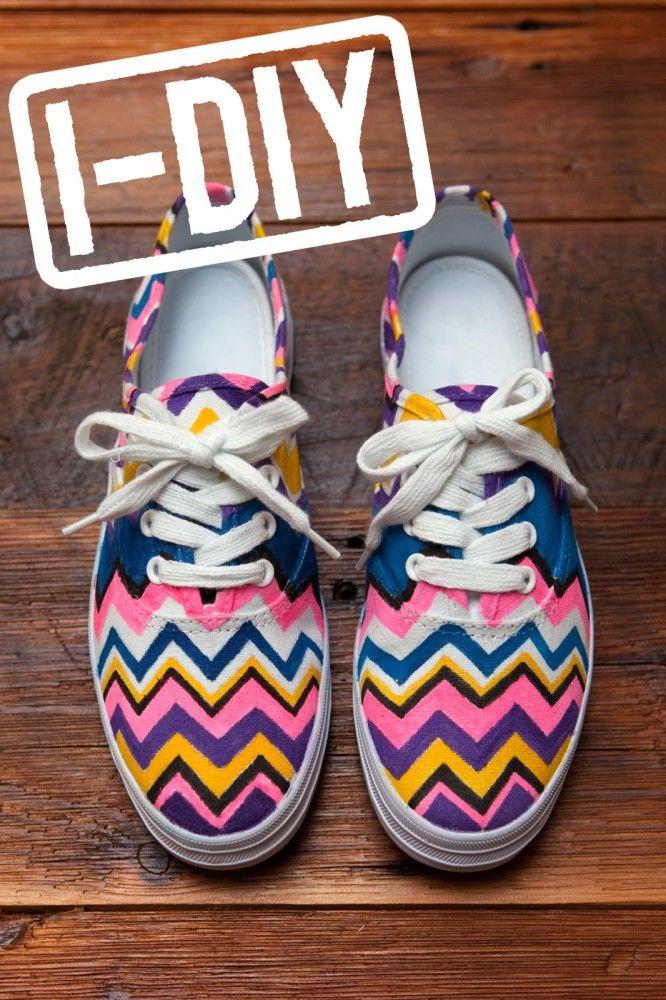 DIY Missoni Tennis Shoes!