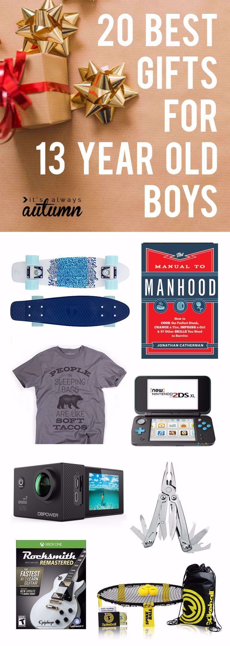 Best gifts for 13 year old boys! Great Christmas gift