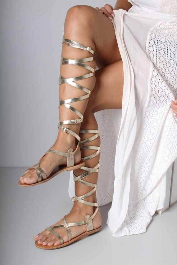 5e649011d925 Strappy Gladiator Sandal Greek Gladiator by TheMerakiCompany