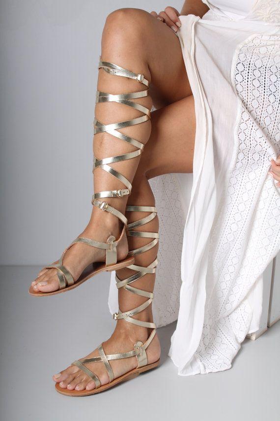 bf0b0e5ef02 Strappy Gladiator Sandal Greek Gladiator by TheMerakiCompany Roman Goddess  Costume