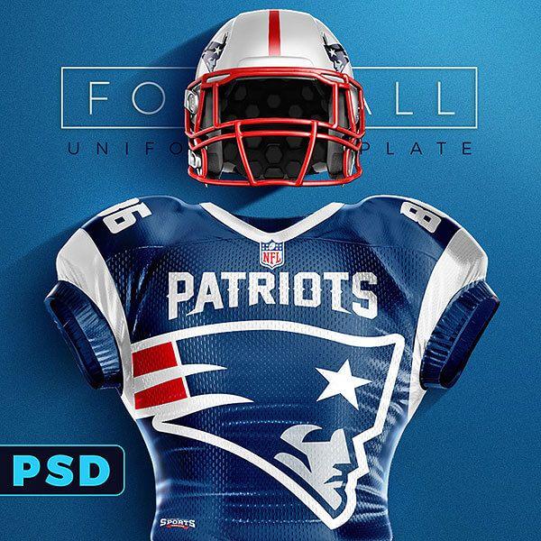 football uniform mockup template mockups pinterest football