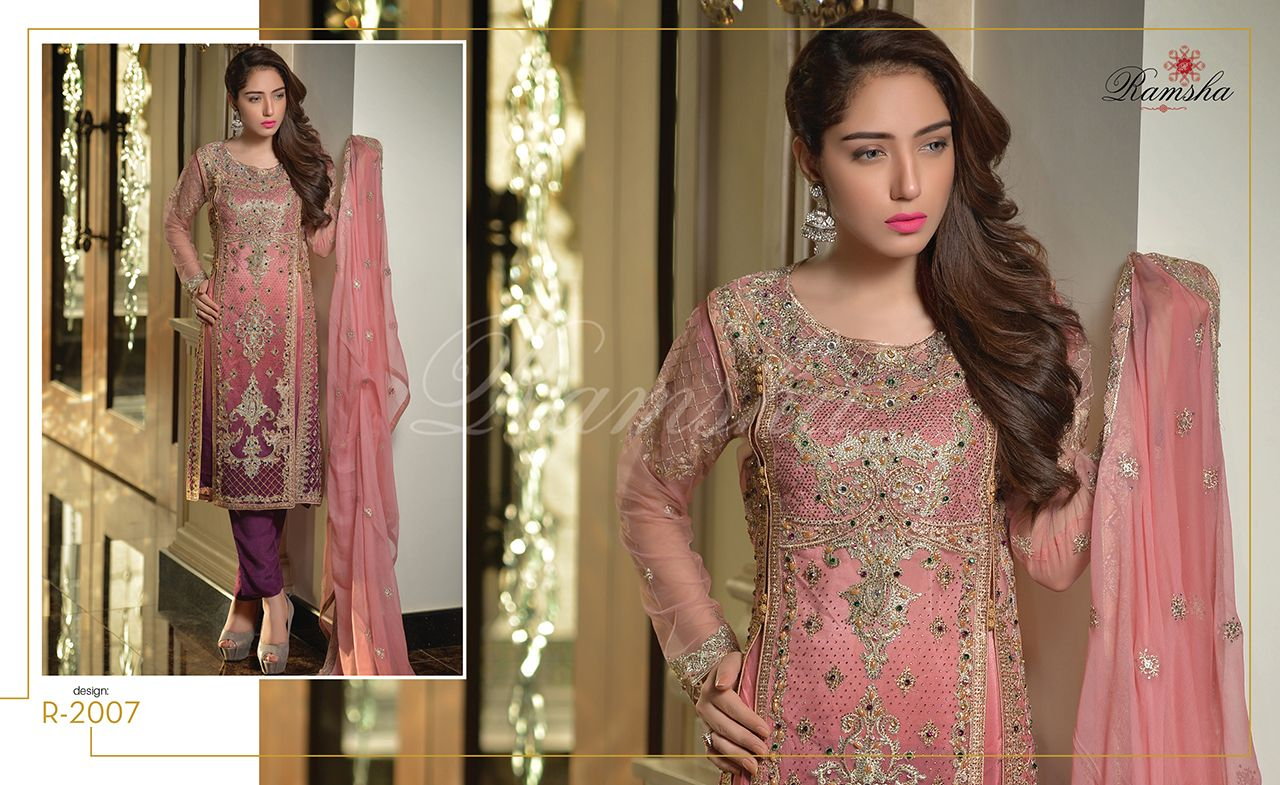 e1fa909508 Water Markable Ramsha Party Wear Collection 2017 Vol-20 | women ...