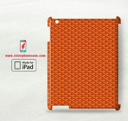 Goyard Paris Orange Pattern - iPad 2 3 4(3D) Cover Case
