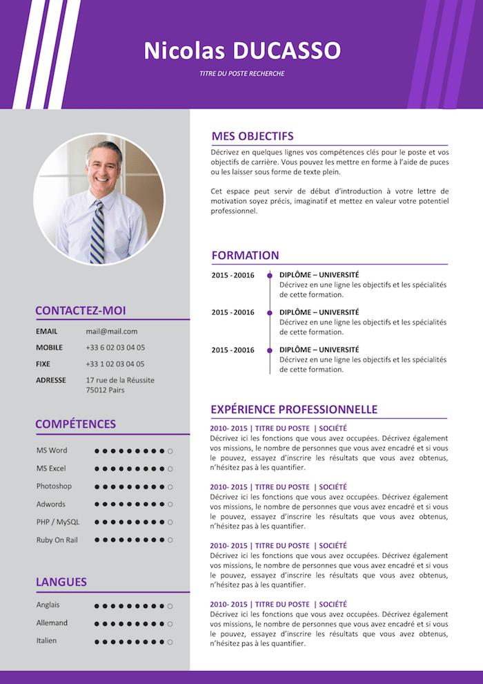 Exemple de CV Commercial expérimenté gratuit à télécharger