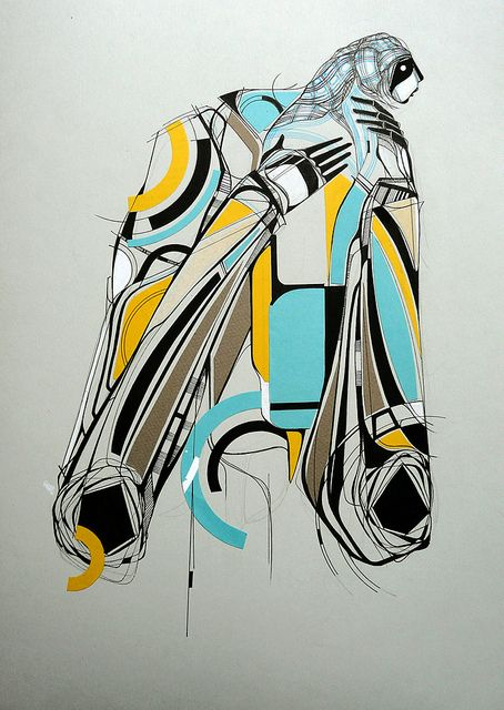 Geometric, Colorful, Blue, Yellow, Inuit, gentle, illustration:by Amose