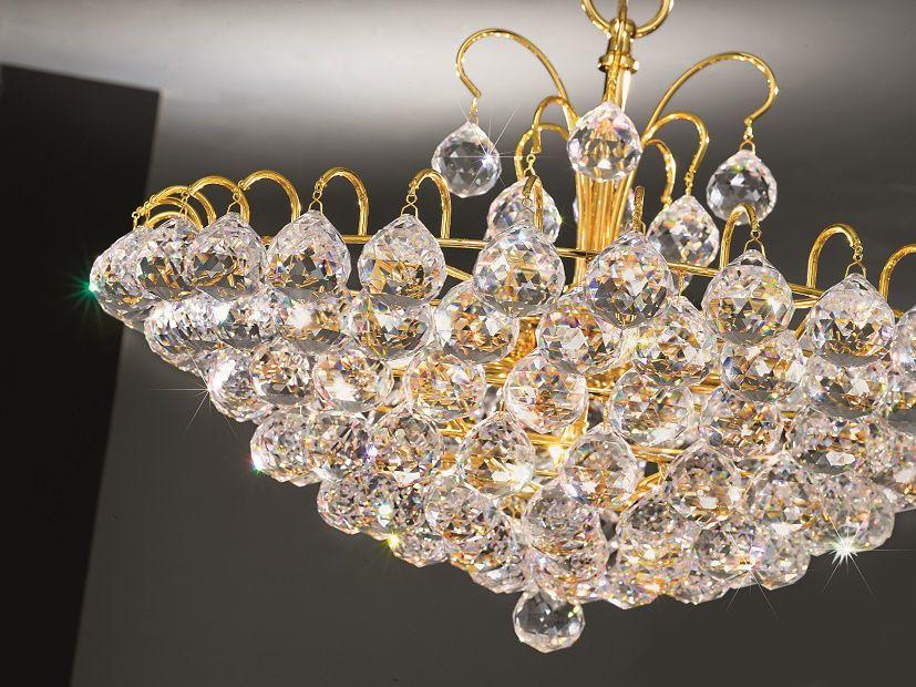 This Stunning Contemporary Crystal Flavia Pendant From Kolarz The Leading Austrian Lighting Company