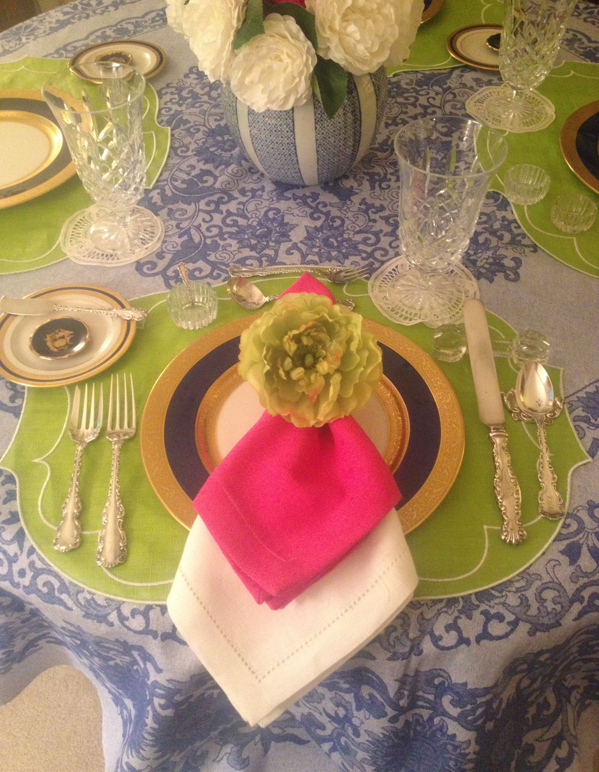 Pin By Susan Jaquith On La Gallina Matta Placemats Beautiful Table Settings Beautiful Table Table Settings