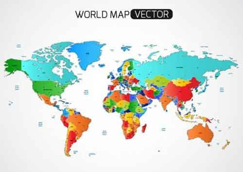 32 Free Vector World Map Files to Download Places to Visit