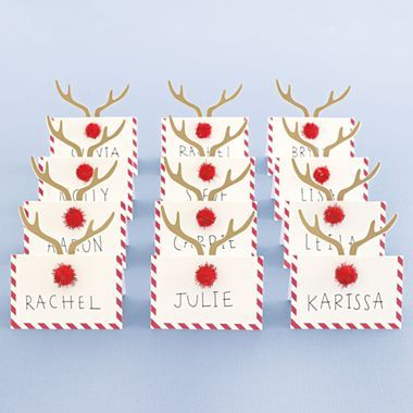 Marthacelebrations Place Cards Christmas Jcpenney Christmas