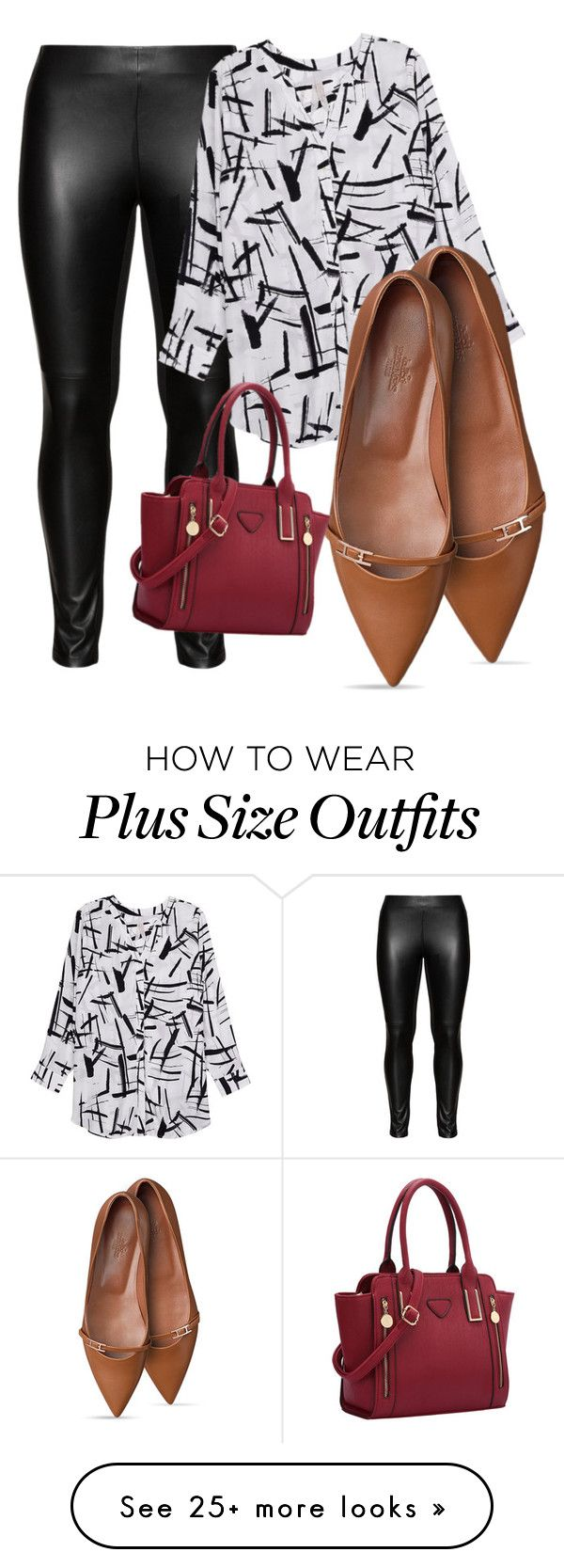 """""""Plus size Risqué"""" by ravenisabel on Polyvore featuring Studio, Melissa McCarthy Seven7 and plus size clothing"""