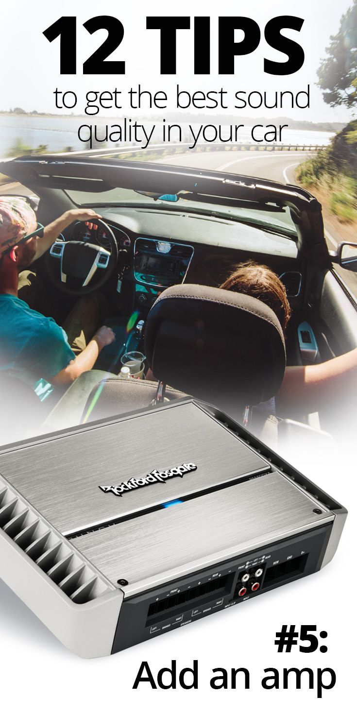 12 Tips for Getting the Best Sound Quality in Your Car | Vehicle ...