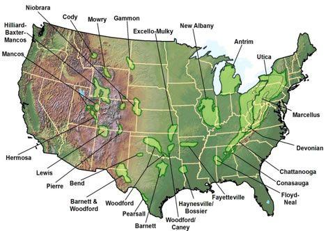 US Shales Shale Maps Pinterest - Us shale map