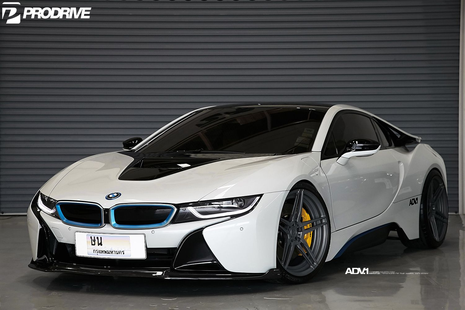 Crystal Pearl White BMW I8 With ADV.1 Wheels And Vorsteiner Carbon Fiber  Aero ...
