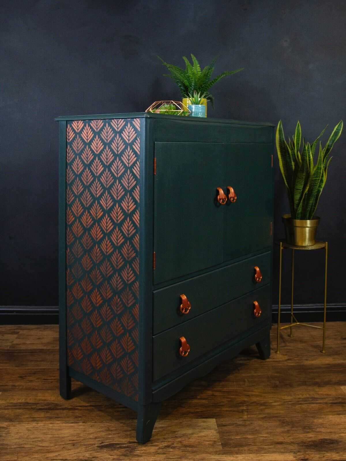 Vintage Mid Century Modern Lebus Dressing Table Drawer Chest Furniture Delivery • £95.00 #artdecointerior