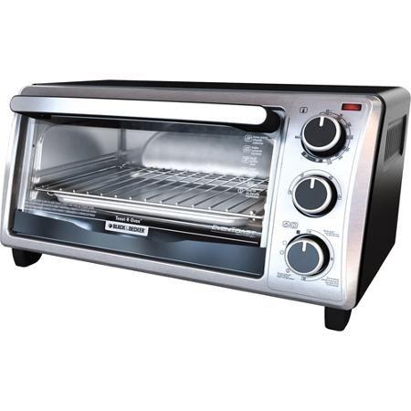 Black Decker 4 Slice Stainless Steel Toaster Oven Walmart Com
