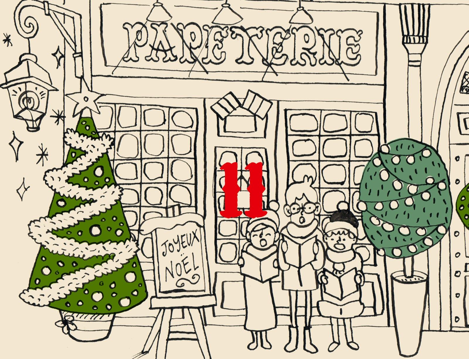 ______ Une carte de Joyeux Noël à imprimer et à envoyer par