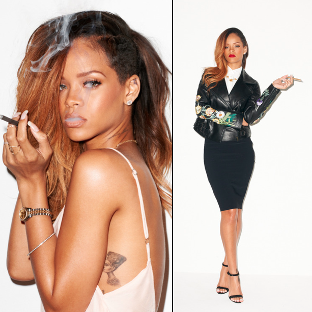Rihanna poses for Terry Richardson