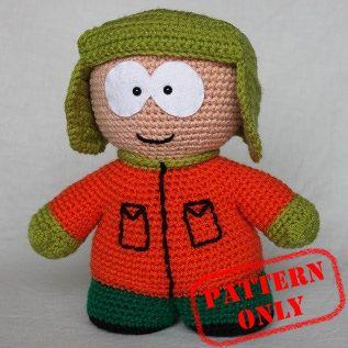 PATTERN ONLY! Kyle Broflovski South Park crochet pattern
