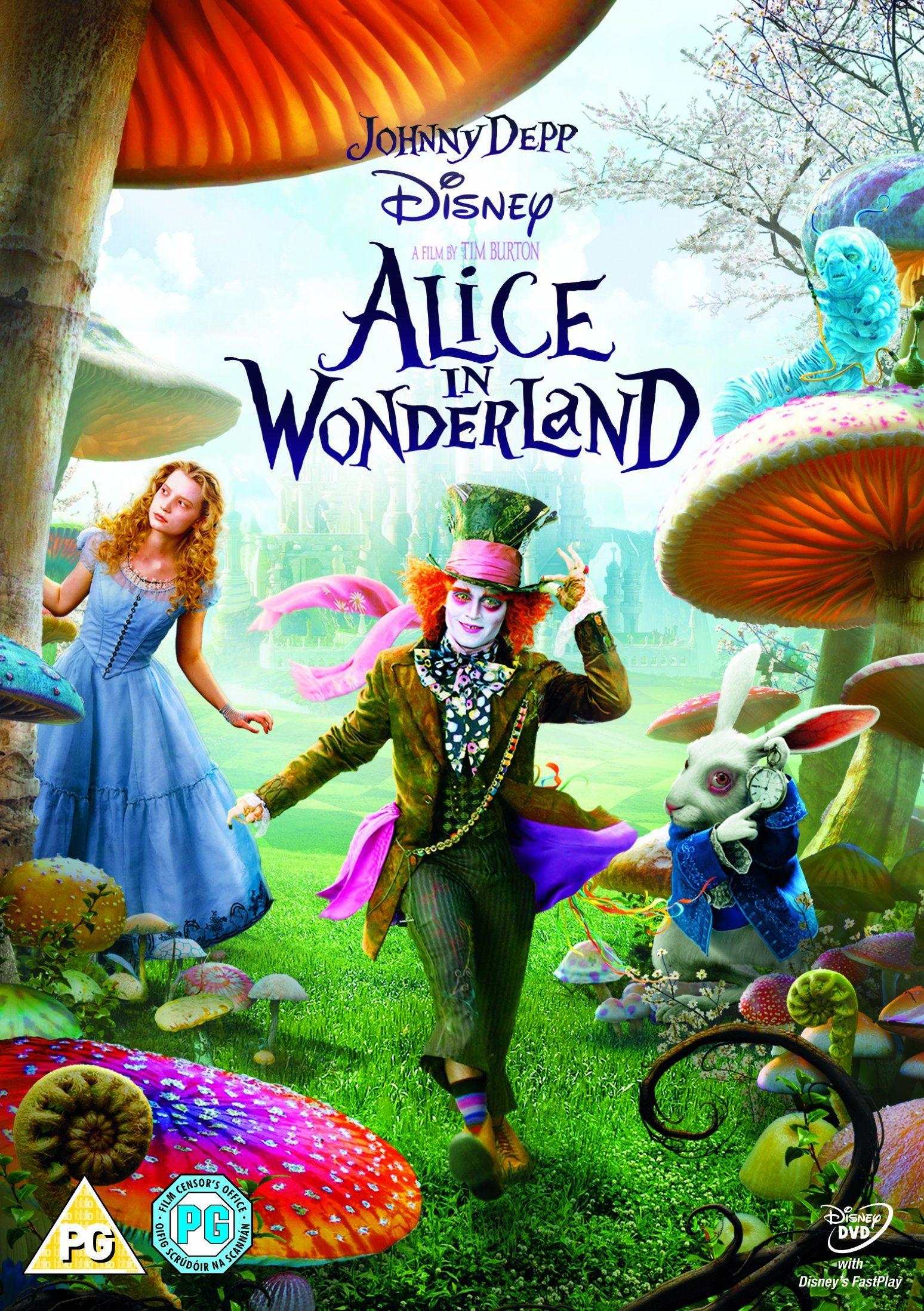 Alice in Wonderland [DVD] Tim burton films, Alice in