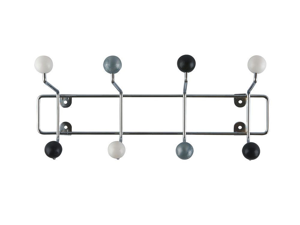 Pt Hat Rack Saturnus Black White And Silver Balls House Simple Silver Wall Coat Rack