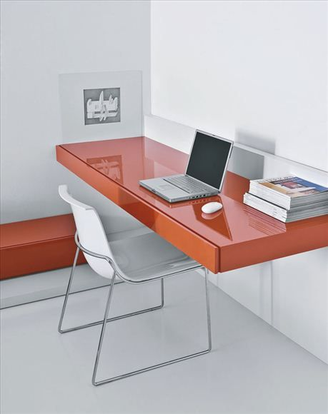 Wall Mounted Desk With Drawer Modern Office Furniture Design