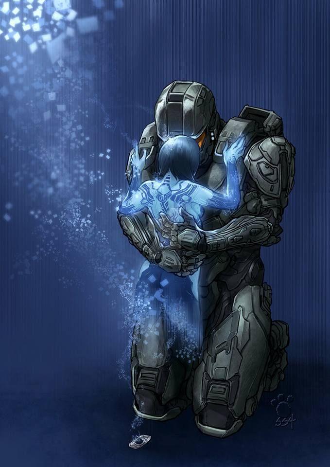 Master Chief Cortana Cortana Halo Halo Dibujo Jefe