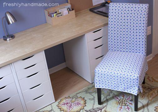 Freshly Handmade Parsons Chair Slipcover Instructions