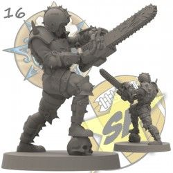 Human with chainsaw SP Miniatures
