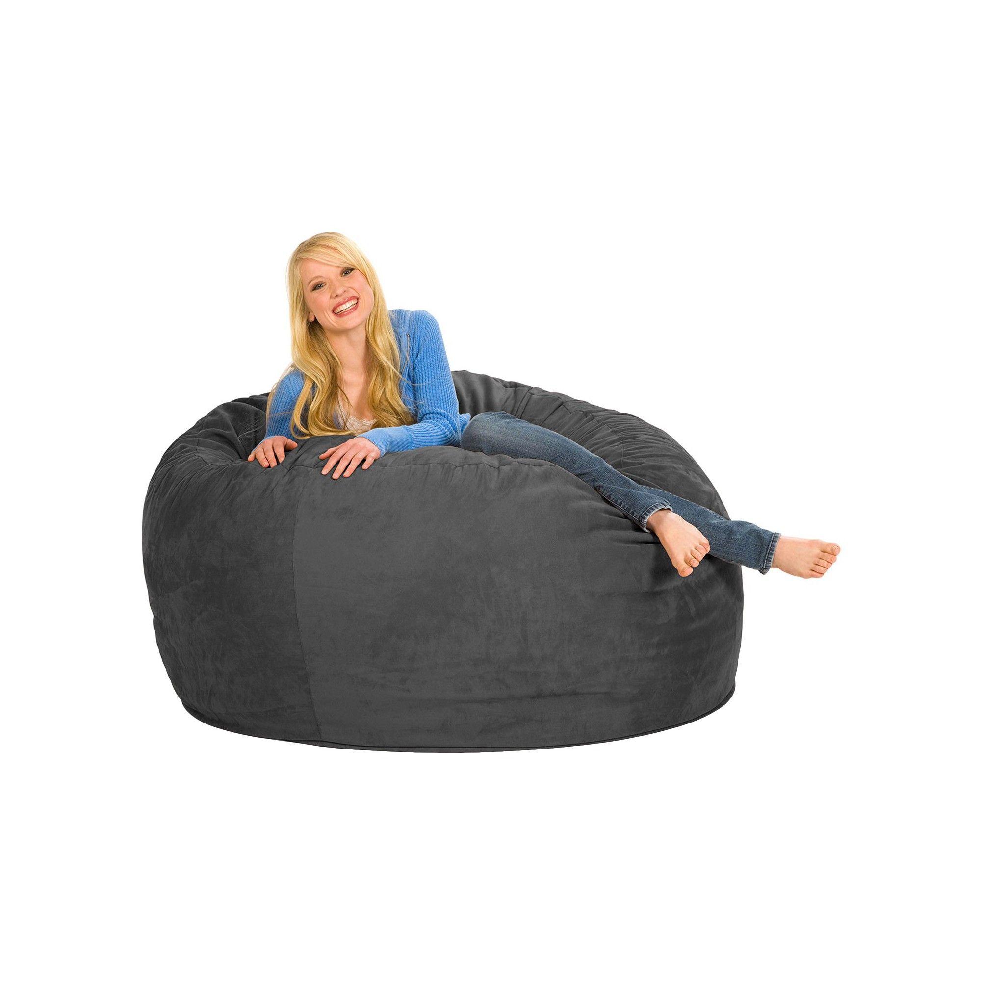 Peachy Large Memory Foam Bean Bag 5 Ft Charcoal Relax Sacks Short Links Chair Design For Home Short Linksinfo