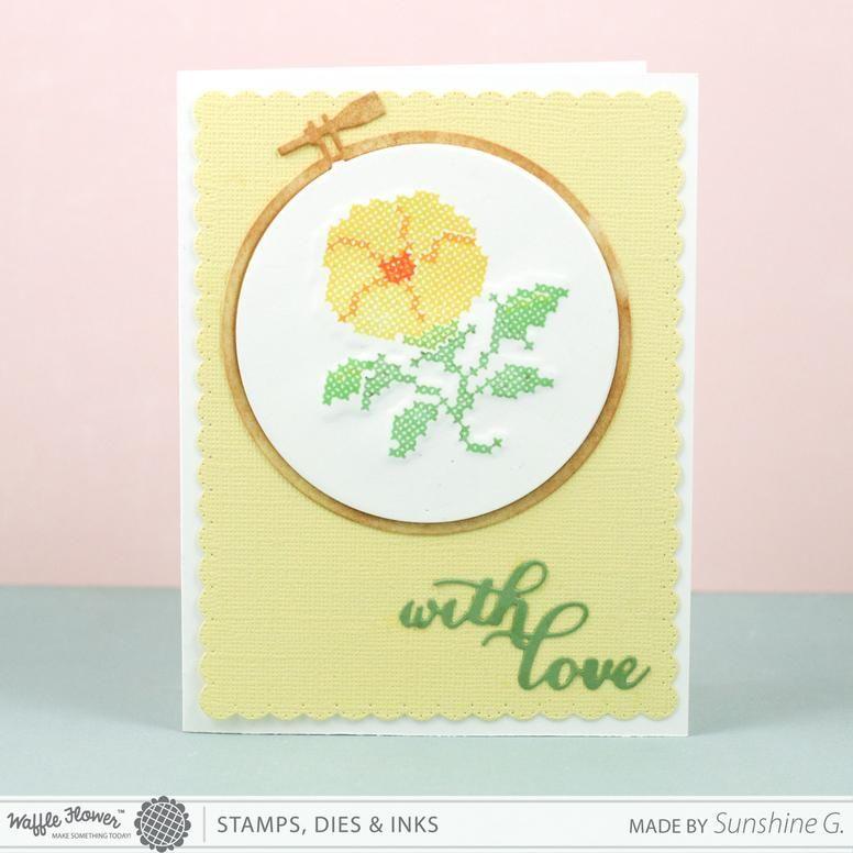 Waffle Flower Stitched Morning Glories에 대한 이미지 검색결과