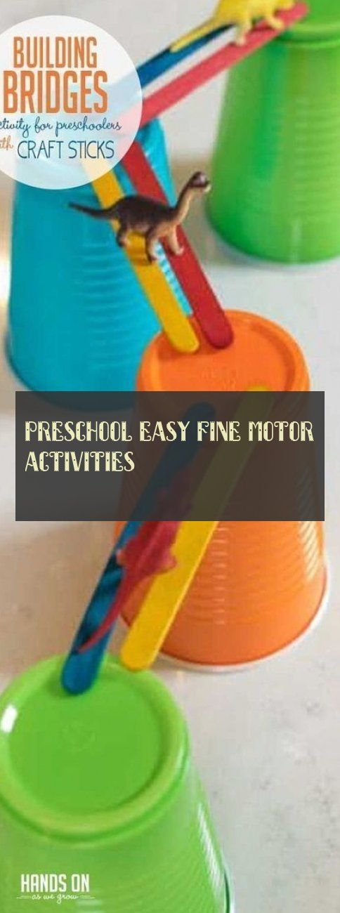 Preschool easy fine motor activities