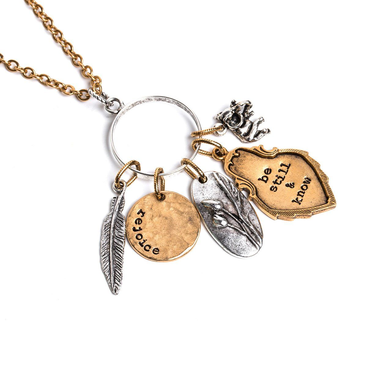 Rebuilding The Impossible Long Necklace Words Of Hope Jewel Logo Under His Wings