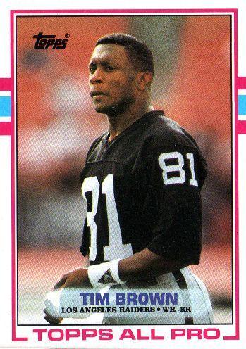 Tim Brown Football Cards Raiders Tim Brown 265