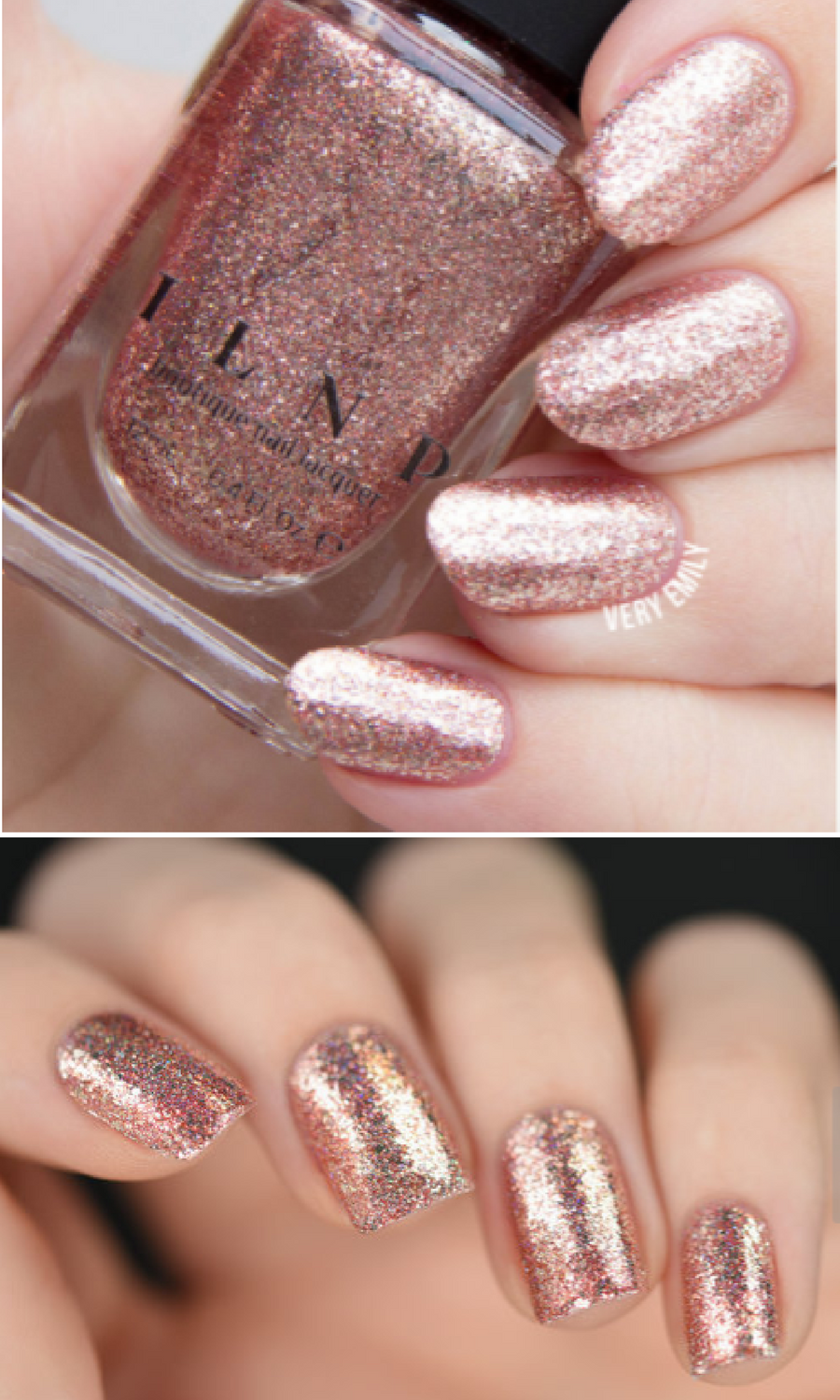 Love these nails! | Juliette - Rose Gold Holographic Nail Polish ...