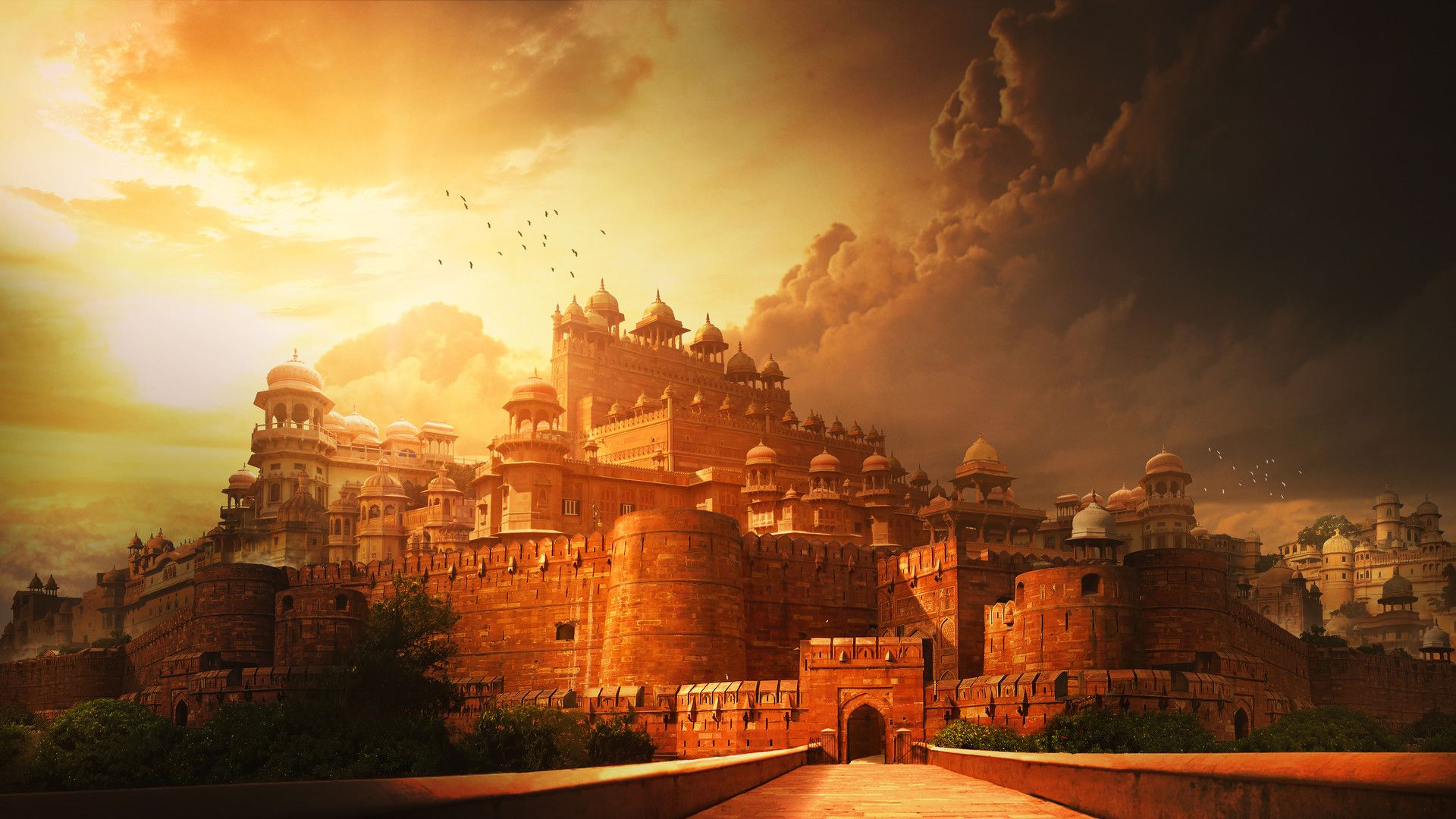 indian palacepradip mahajan | fantasy castle art | pinterest