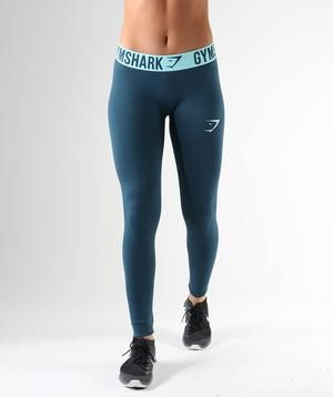 e5056ed43b6af Gymshark Fit Leggings - Lagoon Blue/Mint Green | Gym clothes ...