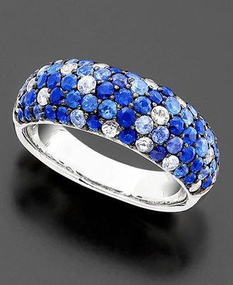 Saph Splash by EFFY Shades Sapphire Band Ring 2 7 8 ct t w