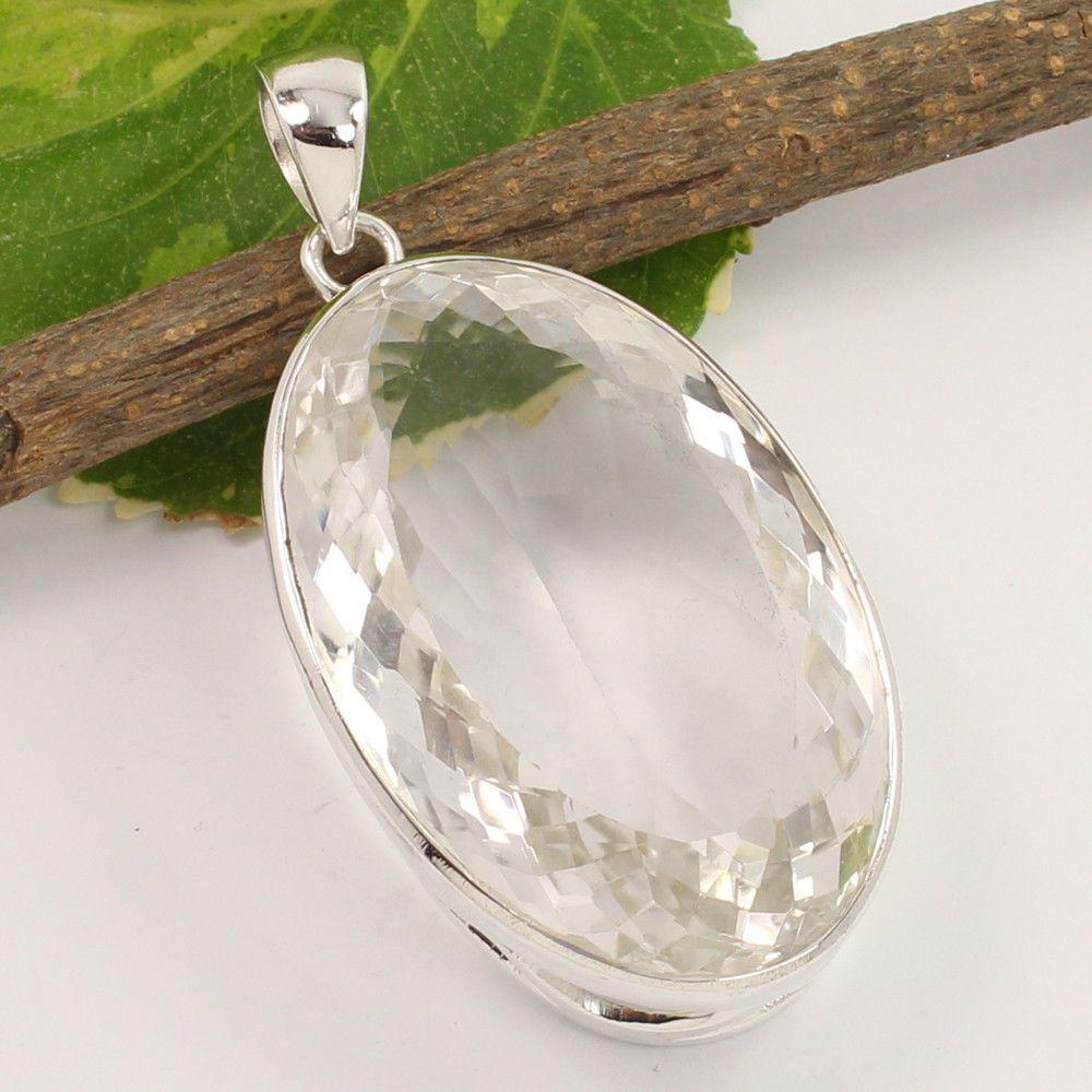 Natural crystal quartz gemstone pendant 925 sterling silver jewelry natural crystal quartz gemstone pendant 925 sterling silver jewelry wholesale unbranded pendant aloadofball Image collections