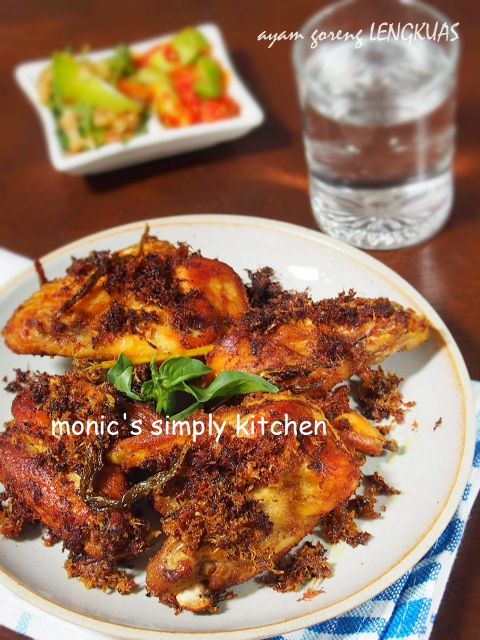 Ayam Goreng Lengkuas Monic S Simply Kitchen Ayam Goreng Resep Masakan Resep Ayam